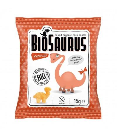Biosaurus Snack de Maíz sabor a Ketchup SIN GLUTEN 15gr