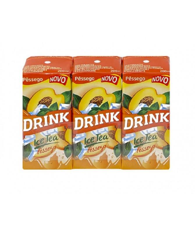 Drink Ice Tea Melocotón 3x200ml T