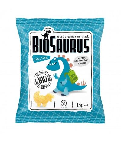 Biosaurus Snack de Maíz con Flor de Sal 15gr