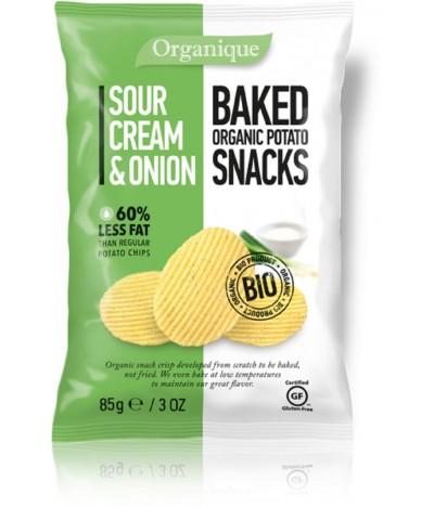 Patatas al Horno Bio Sour Cream & Cebolla SIN GLUTEN 85 gr
