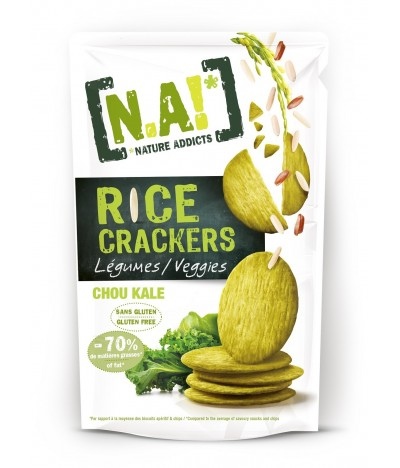 Nature Addicts Crackers de Arroz Veggie SEM GLÚTEN 70gr
