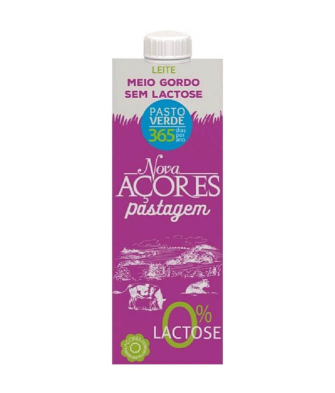 Nova Açores Leche Semidesnatada Sin Lactosa 1L T