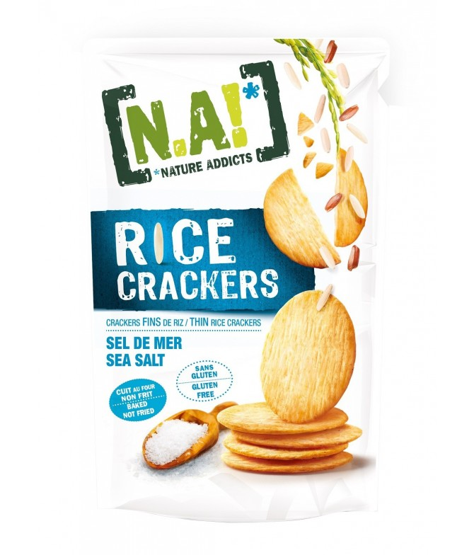 Nature Addicts Crackers de Arroz con Flor de Sal SIN GLUTEN 70gr