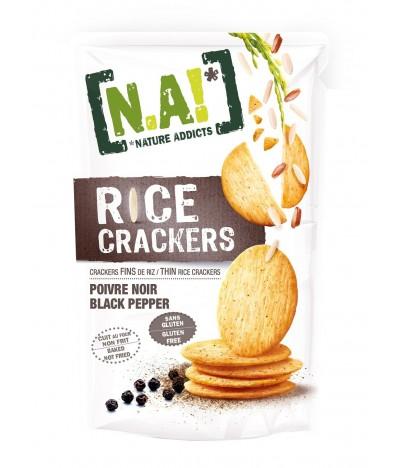 Nature Addicts Crackers de Arroz con Pimienta Negra SIN GLUTEN 70gr