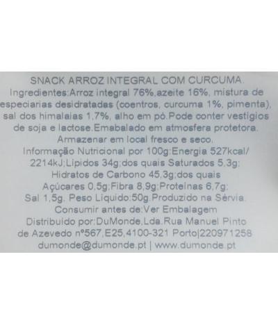 Benlian Cracker Arroz Curcuma 50gr