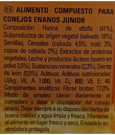 Friskies Optimal Menú Junior Conejo Enano 600gr T