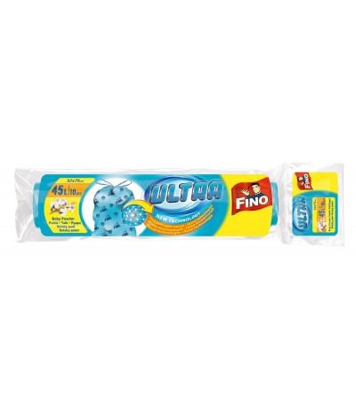 Sacos Lixo Aroma Talco Bebé Fecho Fácil 45L AZUL 10Un