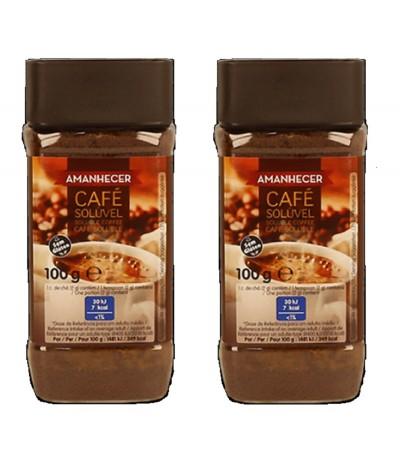 PACK 2 Café Soluble SIN GLUTEN Amanhecer 100gr