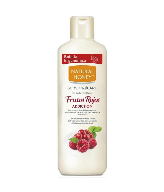 Natural Honey Gel Baño Frutos Rojos 650ml T