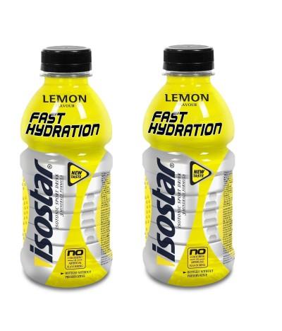 PACK 2 Bebida Isotónica de Limão de Hidratação Rápida Isostar