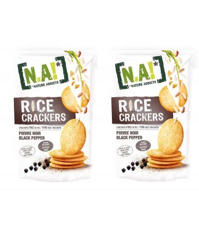 PACK 2 Nature Addicts Crackers de Arroz com Pimenta Preta SEM GLÚTEN 70gr