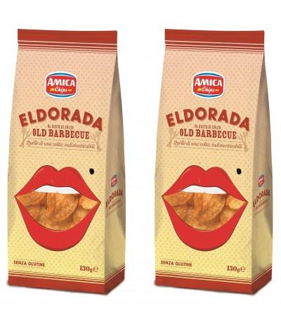 PACK 2 Patatas Fritas sabor Barbacoa Eldorada 130g