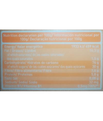 PACK 4 Babybio Galleta Naranja Dulce 120gr T