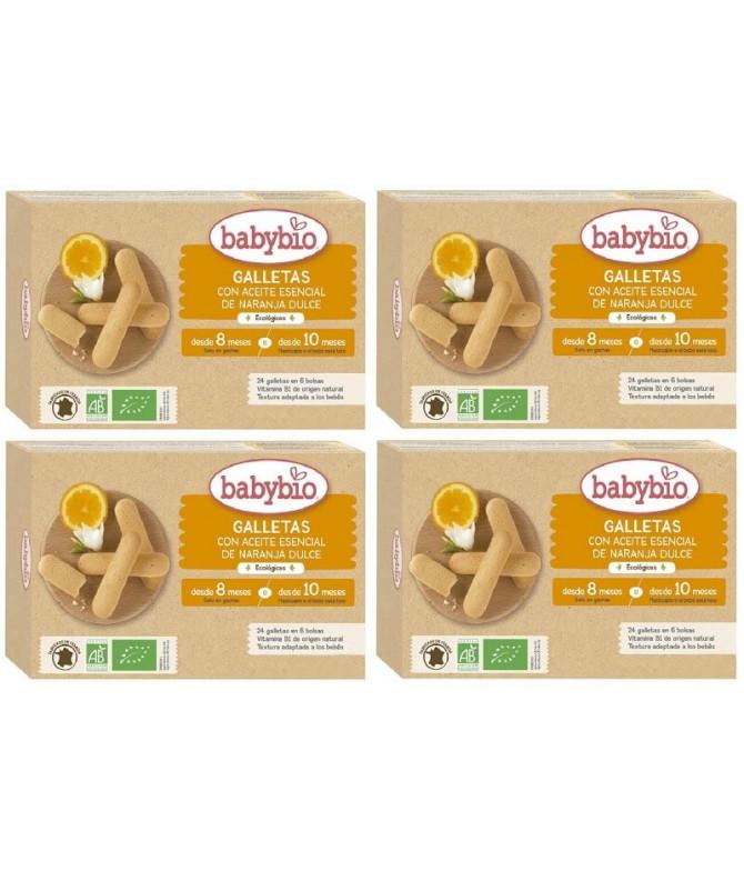 PACK 4 Babybio Biscoito Laranja Doce 120gr