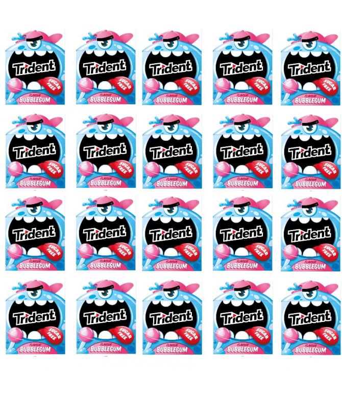PACK 20 Trident Sabor Bubblegum 14gr