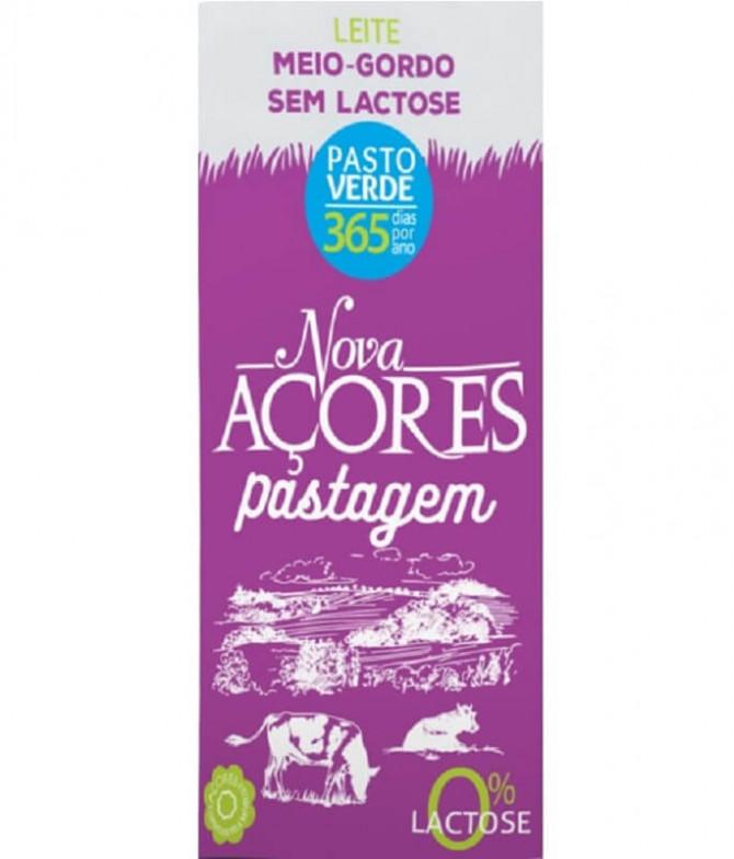 Nova Açores Leite Meio Gordo Sem Lactose 200ml