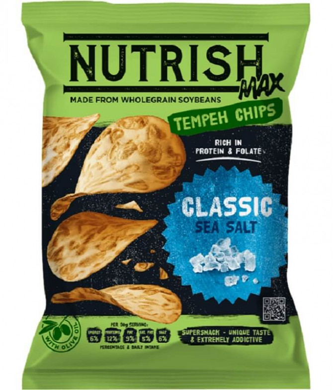 Nutrish Max Chips Tempeh Soja Sal 100gr