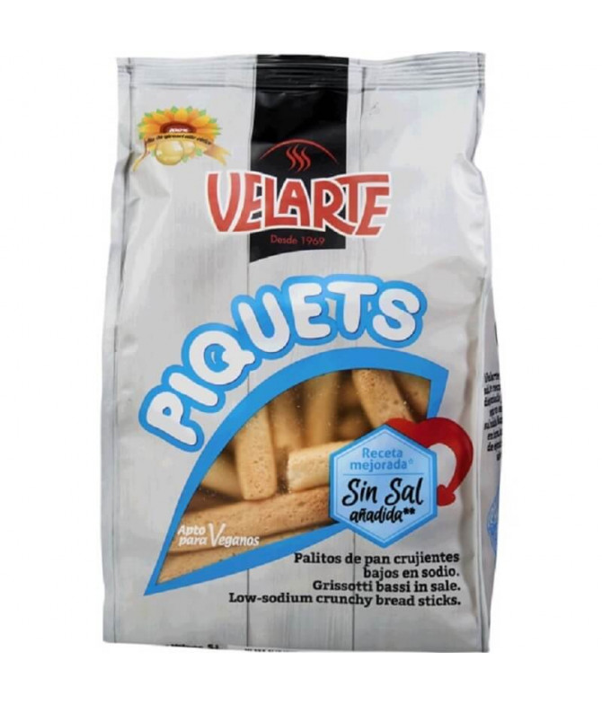 Velarte Piquets Palitos Pan Sin Sal 250gr T