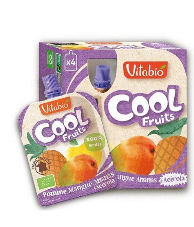 Vitabio Cool Fruits Manzana Mango Piña 4x90gr T