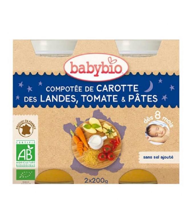 Babybio Potito Pasta Tomate Zanahoria 2x200gr T