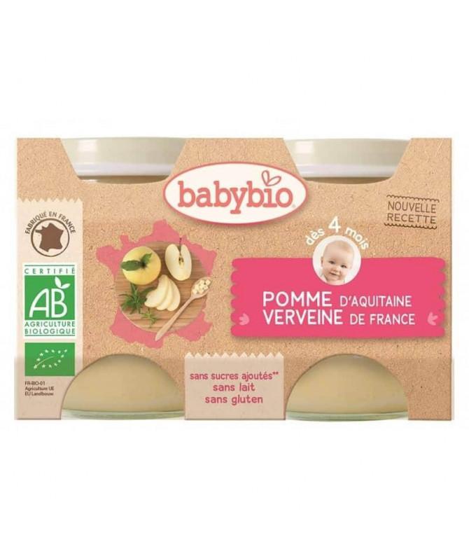 Babybio Potito Puré Manzana 2x130gr T