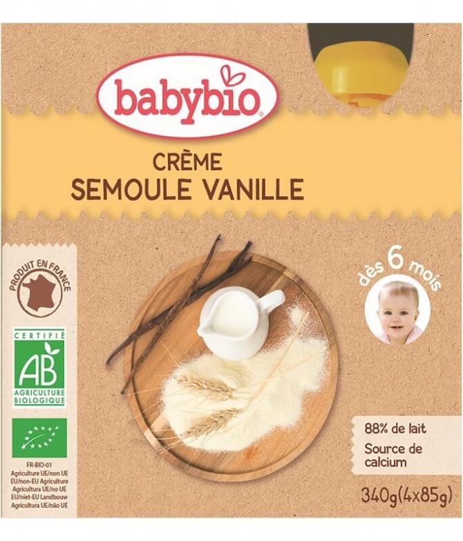 Babybio Crema Sémola Vainilla 4x85gr T