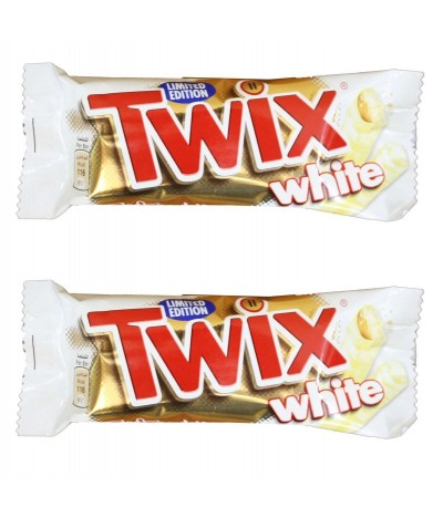 PACK 2 Chocolate Blanco Twix White 2x23gr
