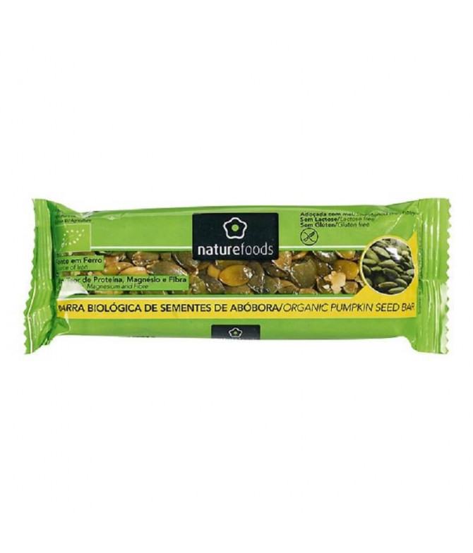 Nature Foods Barrita Sementes Abóbora BIO 40gr