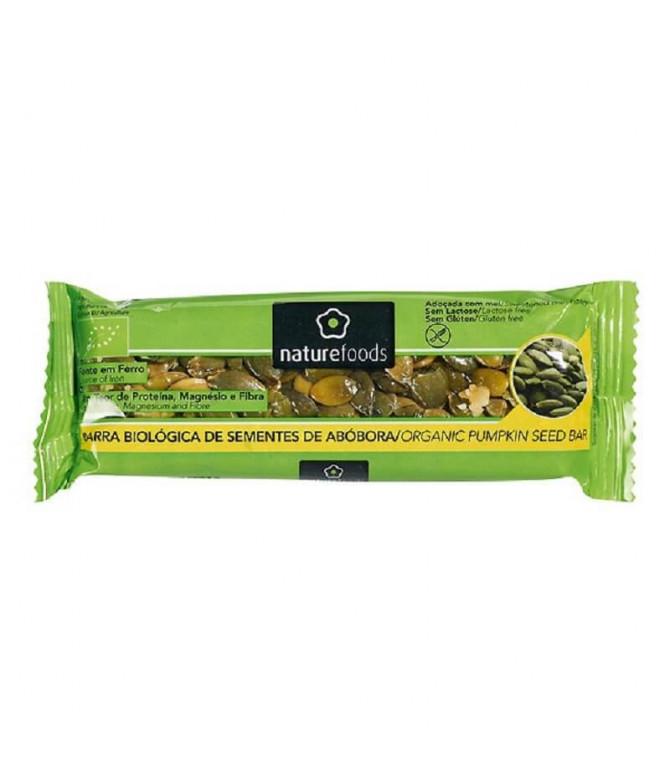 Nature Foods Barrita Semillas Calabaza BIO 40gr T