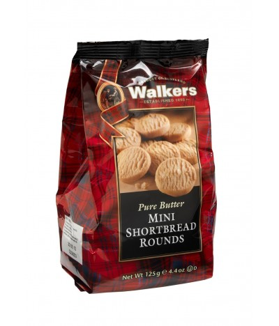 Walkers Bolachas de Manteiga Mini Shortbread Round 125gr