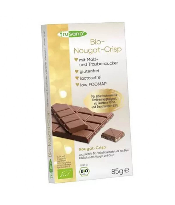 Frusano Chocolate Leche Nougat Crisp BIO 85gr T