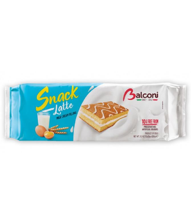 Balconi Snack Latte Pastelito Relleno Crema 10un T