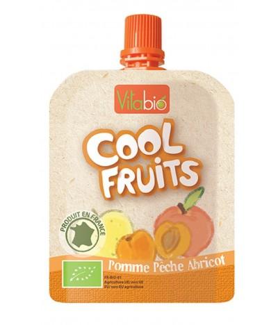 Vitabio Puré de Frutas Maça Pêssego Alperce BIO Cool Fruits 90gr