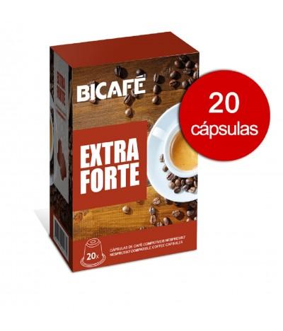 Café Extra Fuerte compatible Nespresso 20 cápsulas Bicafé