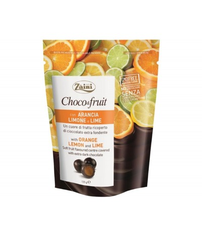 Choco Fruit Chocolate Negro Naranja Limón y Lima 125gr