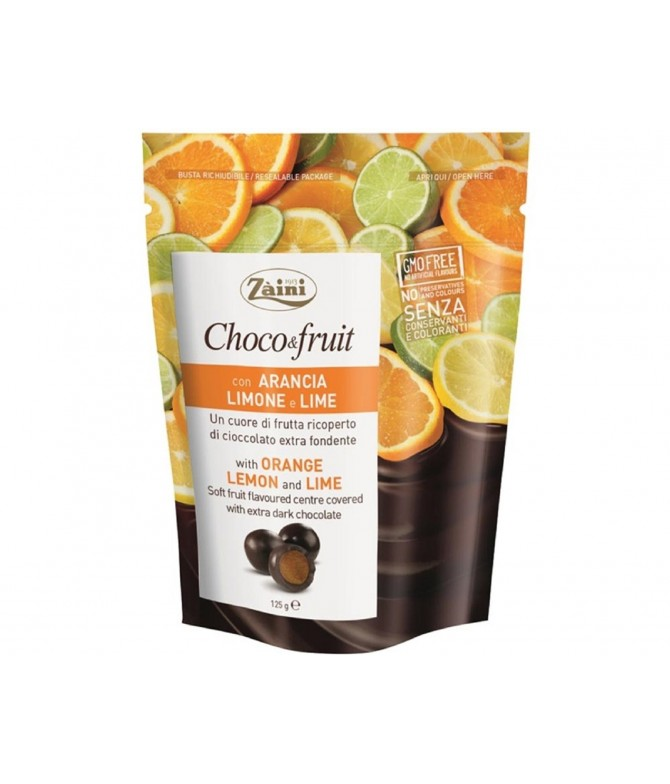 Choco Fruit Chocolate Negro Naranja Limón y Lima 125gr