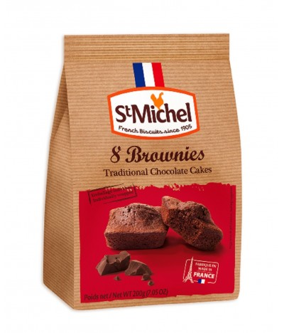 St. Michel Bolinhos de Chocolate Preto 200gr - 8 Brownies