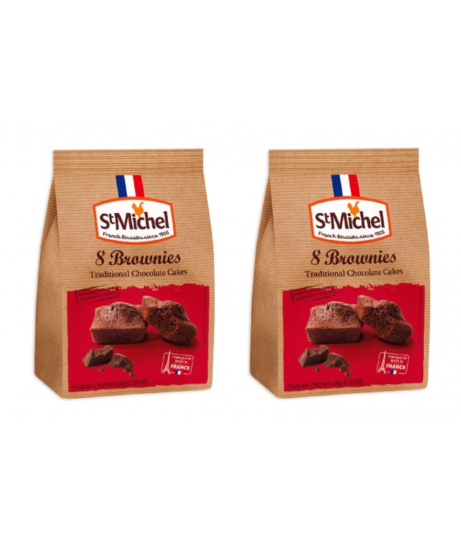 PACK 2 St. Michel Pastelitos de Chocolate Negro 8un