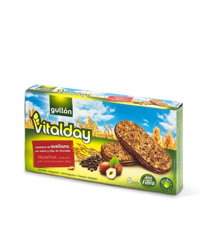 Vitalday Bolachas Avelã Pepitas Chocolate 220gr
