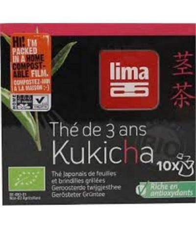 Lima Kukicha Chá Japonês de 3 Anos BIO 10 saquetas