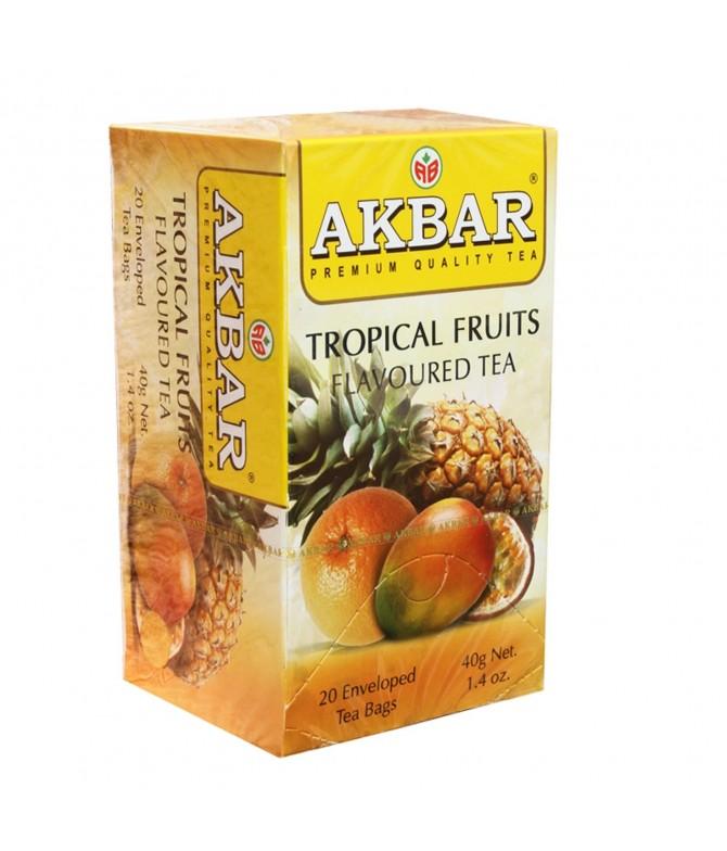 Akbar Chá Preto & Frutos Tropicais 20un