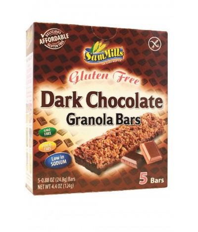 Sam Mills Barritas Granola Chocolate Preto SEM GLÚTEN 5x24,8gr