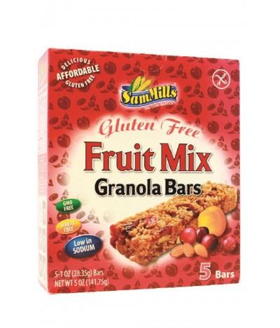Sam Mills Barritas Granola Fruta SEM GLÚTEN 5x28,35gr