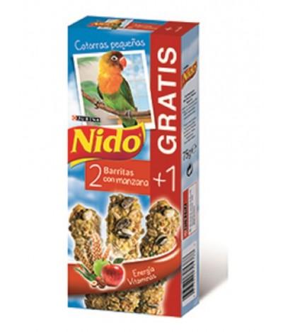 Purina Nido Barritas Com Fruta para Papagaios Pequenos 2+1un 75gr