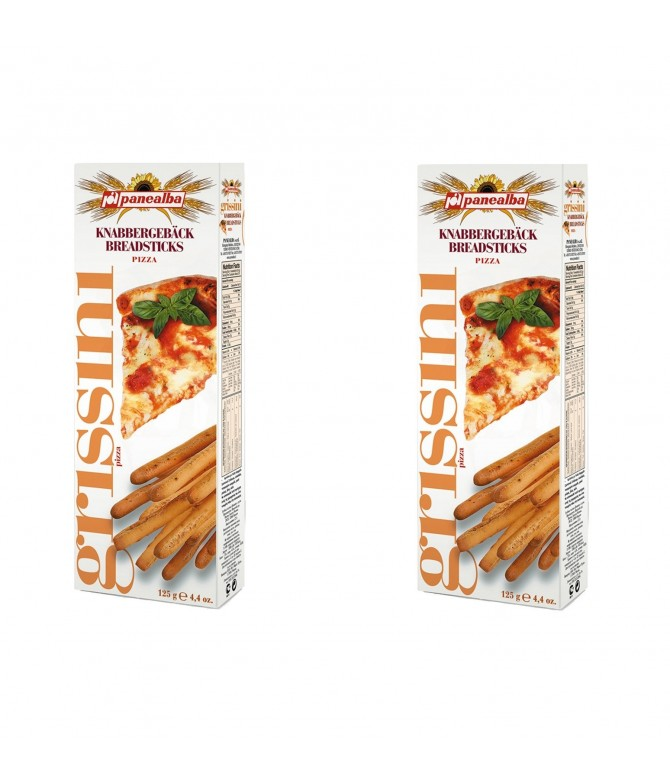 PACK 2 Palitos de Pan Grissini sabor Pizza 125gr
