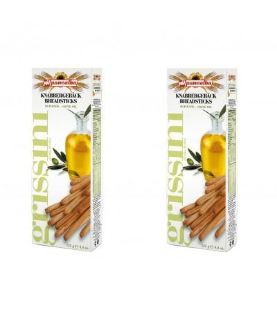 Panealba PACK 2 Palitos de Pão Grissini com Azeite 125gr