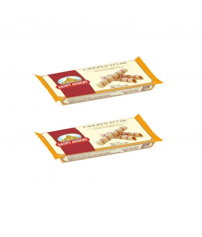 PACK 2 Barquillos Wafers Frambuesa Crêpes D Or 40gr