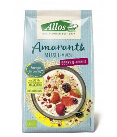 Allos Cereais Muesli Amaranto & Frutos do Silvestres 375gr