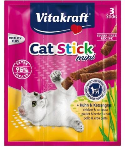 Vitakraft  Cat Stick Mini Frango com Erva Nêveda 3un