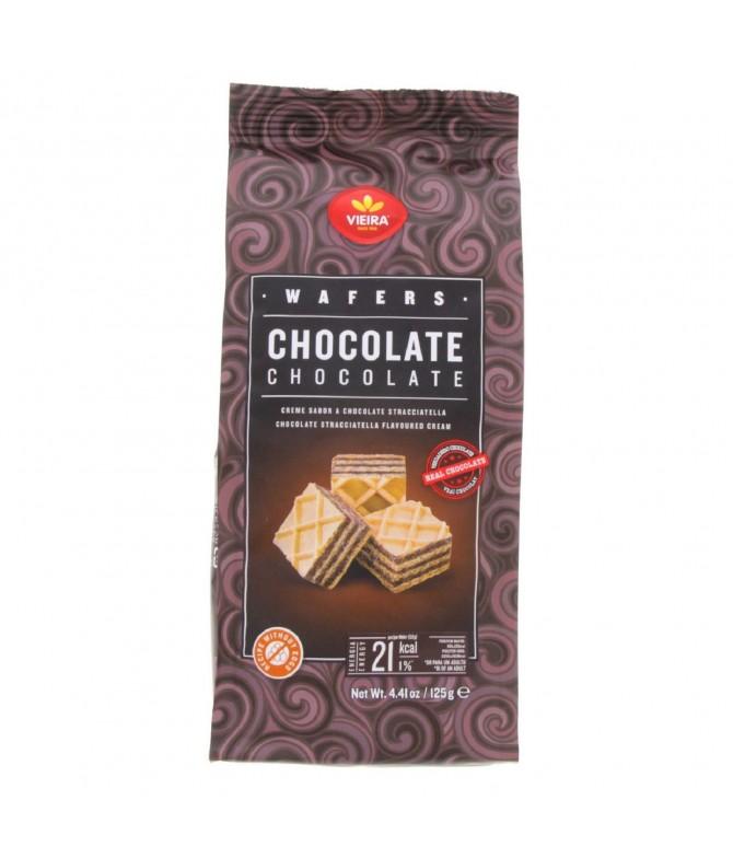 Vieira Bolachas Wafers Chocolate Stracciatella Cubos 125gr